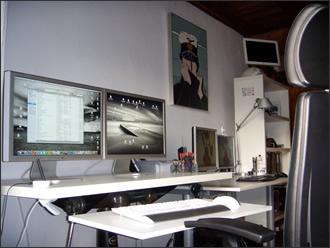 Mon bureau Mac et PC