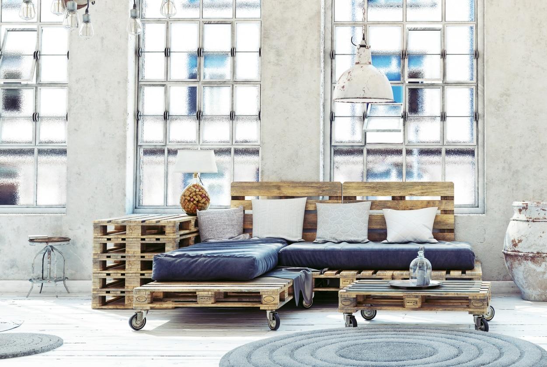 Salon palette en bois