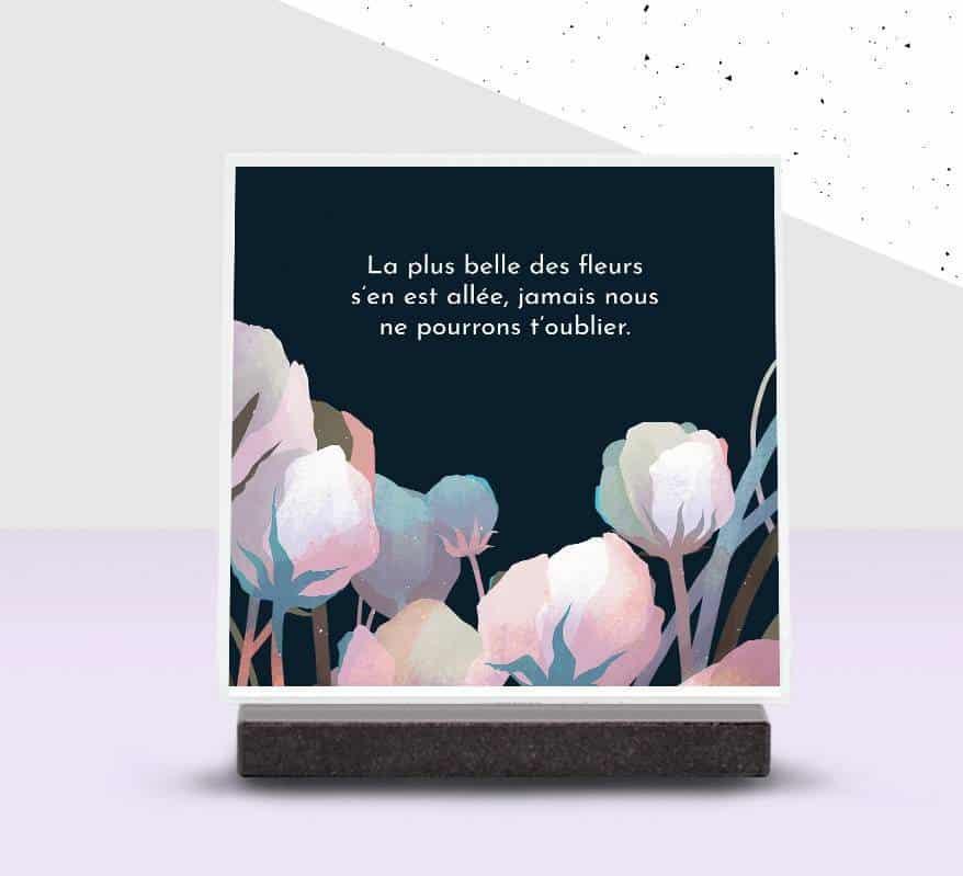plaque personnalisée Iqoniq édition limitée florale